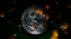 Animation - Earth with auras or halo - stock footage