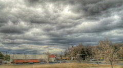HDR Cloud Cover Stock Footage