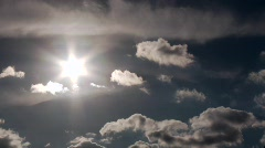 Clouds And Sun Timelapse Stock Footage