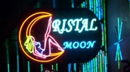Neon Sign Strip Club at night (HD) c Stock Footage