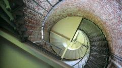 Cape Blanco Lighthouse Interior Circular Staircase, Oregon Stock Footage