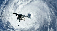Hurricane/Storm with Space Shuttle Stock Footage