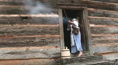 Pioneer Woman Shooting Stock Footage