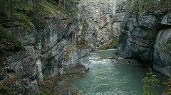 Maligne Canyon gorge P HD 7613 Stock Footage