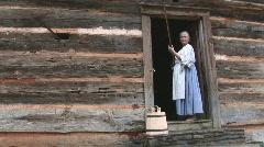 Pioneer Woman Shooting Stock Footage