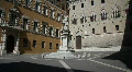 Small square in Siena Footage