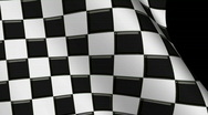 Stock Video Footage of Waving Checkerd Flag Loop