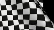 Stock Video Footage of Waving Checkerd Flag Loop