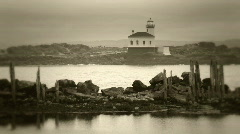 Sepia toned lighthouse-HD Stock Footage