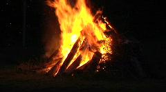 Fire midsummer Stock Footage