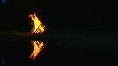 Estonian midsummer fire Stock Footage