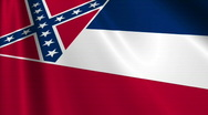 Mississippi Flag Loop 03 Stock Footage