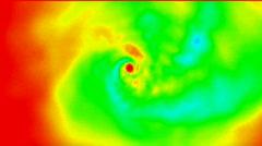 Choas swirl in space,swirl fire scene,hot energy. Stock Footage