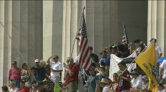"Glenn Beck's ""Restoring Honor"" and Tea Party rally in DC Stock Footage"