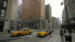 Street traffic Madison Ave New York City NYC Stock Footage