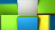 Color Cubes Stock Footage