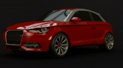Audi a1animation Stock Footage
