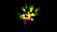 Color ray light,dazzling disco neon light,Ballroom,Radiation. Stock Footage