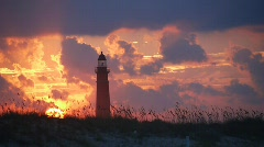 Ponce Inlet Lighthouse at Sunset Stock Footage