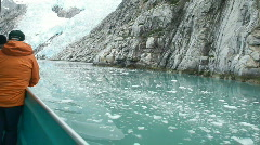 Glacial ice tour ship Alaska P HD 8325 Stock Footage