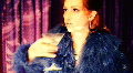 t206 drinking alcohol martini drink 60s 1960s retro look film girl lady woman Footage