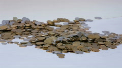 Lots of coins Stock Footage