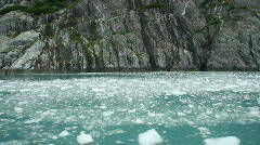 Glacial ice flat waterfall Alaska P HD 8324 Stock Footage
