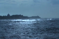 Storm Fiona - waves heading to Old San Juan Stock Footage