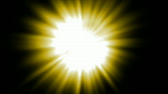 Yellow ray light,sunlight,flare energy laser in space. Stock Footage