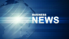 Stock Video Footage of Blue Business News