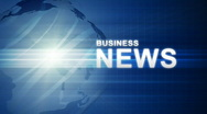 Blue Business News Stock Footage