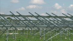 Solar powerplant construction Stock Footage