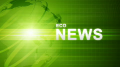 Green Eco News Stock Footage