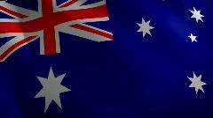 Australia looping flag waving in the wind Stock Footage