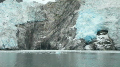 Glacier Northwest rocks from boat P HD 8338 Stock Footage