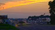 Traffic at sunset timelapse 02 Stock Footage