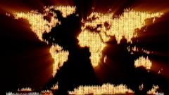 Candles forming Earth map - stock footage