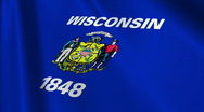 Wisconsin Flag Loop 03 Stock Footage