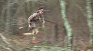 Stock Video Footage of Indian Native Running