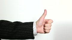 Hand sign: thumb up, down and scolding Stock Footage
