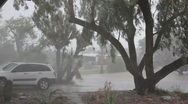 Stock Video Footage of Unexpected super storm - high winds, rain and thunder