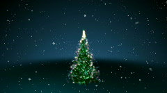 Happy Holidays with Tree 3D HD1080 Stock Footage