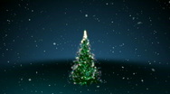 Stock Video Footage of Happy Holidays with Tree 3D HD1080