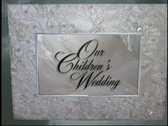 1611L Our Child's Wedding-Book Opening Stock Footage