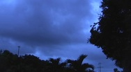 Stock Video Footage of Hurricane Earl - storm clouds approaching