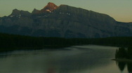 Stock Video Footage of Mount Rundle sunrise TL pj 01