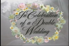 1608L A Double Wedding Celebration-Page  Turn Opening Stock Footage