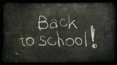 Back to school writing with alfa matte Stock Footage