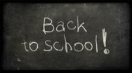 Stock Video Footage of back to school writing with alfa matte