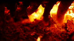 Fireplace Ash Tray Stock Footage